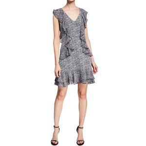 NWT Michael Kors Floral-Print V-Neck Ruffle Dress